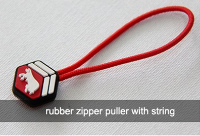 Durable Nylon String Rubber Zipper Puller For Auto Lock Zipper Slider
